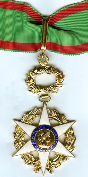 French Order of Agricultural Merit Award