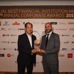 SM's Executive Vice President and Chief Financial Officer Mr. Jose T. Sio (left) was named Best Chief Finance Officer (CFO) in the Philippines for the fourth time in a row by Alpha Southeast Asia magazine.  Mr. Sio is known for his financial prudence while strongly supporting the phenomenal growth of the SM group of companies.  With Mr. Sio is Siddiq Bazarwala, CEO and Publisher, Alpha Southeast Asia.