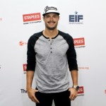 """Boston Red Sox pitcher Joe Kelly at the Staples """"Think It Up"""" press announcement held on Wednesday, September 2, 2015 at the W Boston Hotel. Staples announced today that it funded 214 local classroom projects in the Greater Boston area, as part of its recent $10 million pledge to ÒThink it UpÓ, a new national initiative of the Entertainment Industry Foundation in partnership with DonorsChoose.org. (Photo by Marc Andrew Deley/Invision for Staples/AP Images)"""