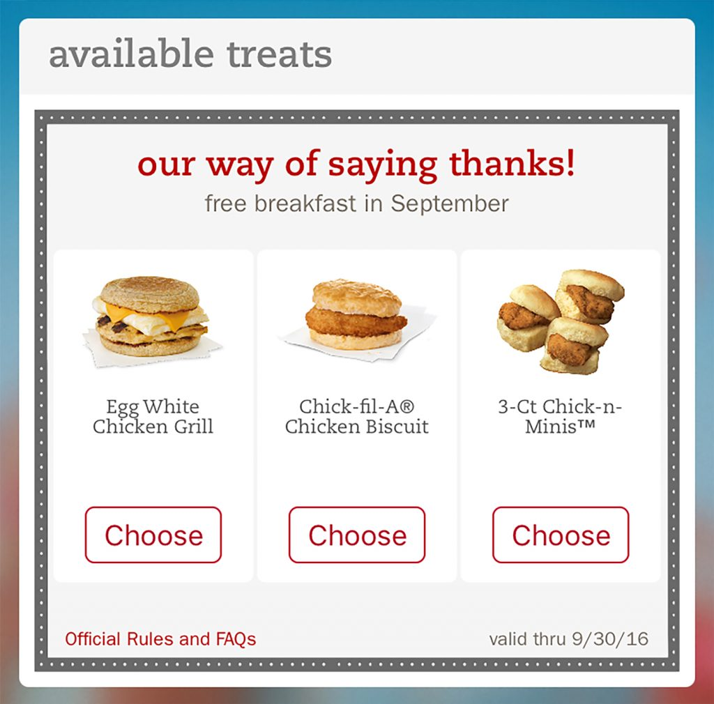 Since Chick-fil-A has been the home of the original chicken sandwich with two pickles on a toasted butter bun. However, we also offer many healthy alternatives to typical fast food.