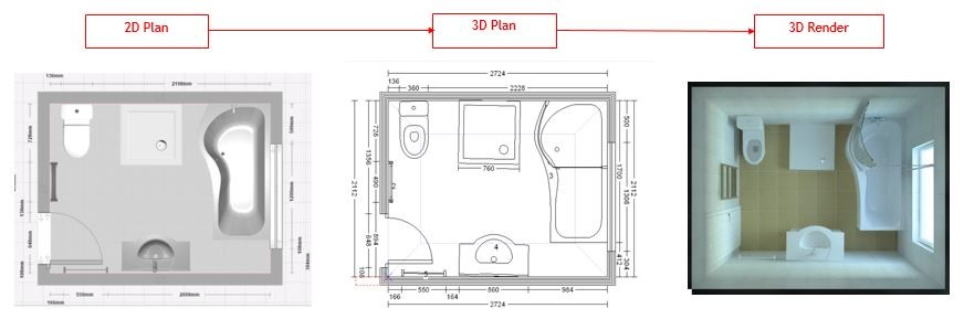 Epr retail news bathstore launches new 2d to 3d bathroom for Bathroom planner 3d