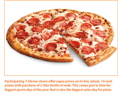 7-Eleven Inc. in the game to win piece of the pie on pizza's biggest sales day of the year