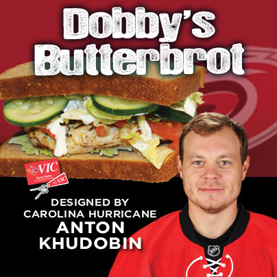 Carolina Hurricanes Anton Khudobin teams up with Harris Teeter to debut his  personally designed Signature Sub Sandwich