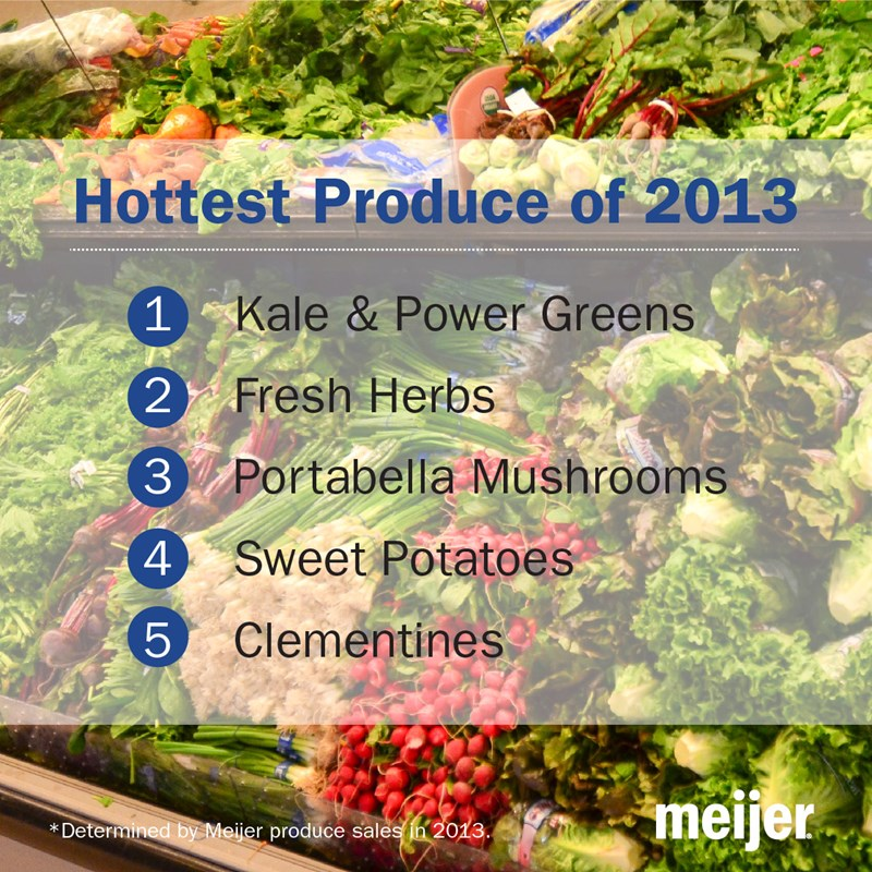 Meijer unveils the top five fruits and veggies shoppers bought in 2013