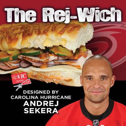 Carolina Hurricanes defenseman Andrej Sekera teams up with Harris Teeter to debut Sekera's personally designed Signature Sub Sandwich