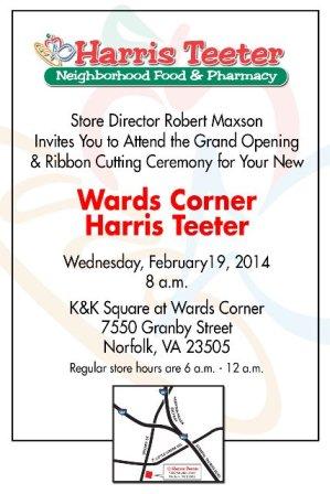 Harris Teeter announced opening of its Wards Corner store in Norfolk, VA