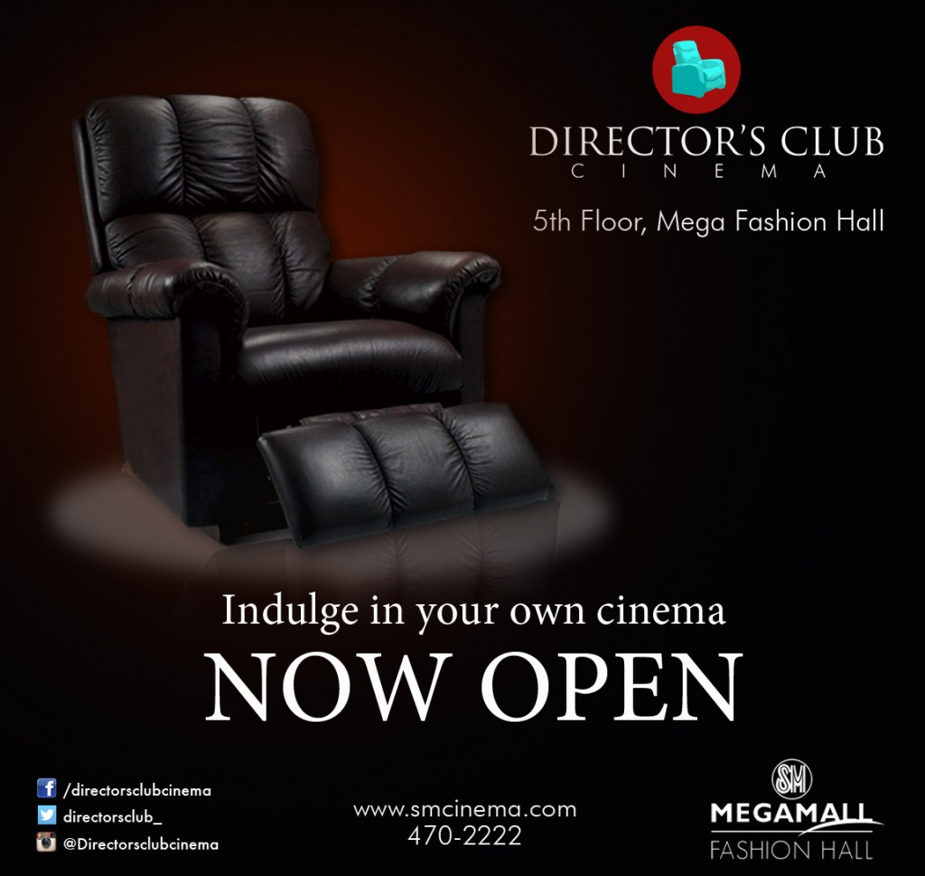 Philippines SM Cinema unveiled Director's Club Cinema and IMAX Theatre in the newest expansion of SM Megamall in Ortigas - the Mega Fashion Hall