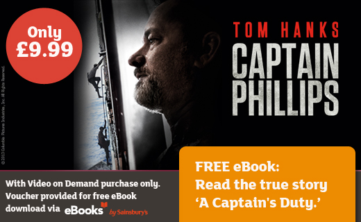 Sainsbury's offers movie fans the first ever Video on Demand film and eBook 'bundle' on the release of Captain Phillips movie