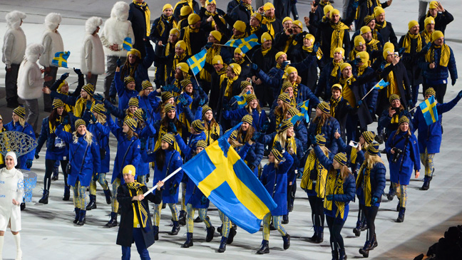 Swedish Olympic team wears H&M at Winter Olympic Opening Ceremony in Sochi, Russia