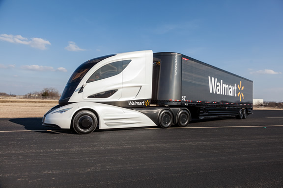 Walmart showcased its Futuristic Truck in support of its sustainability program