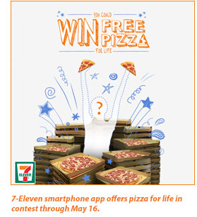 7-Eleven launches Pizza for Life Sweepstakes
