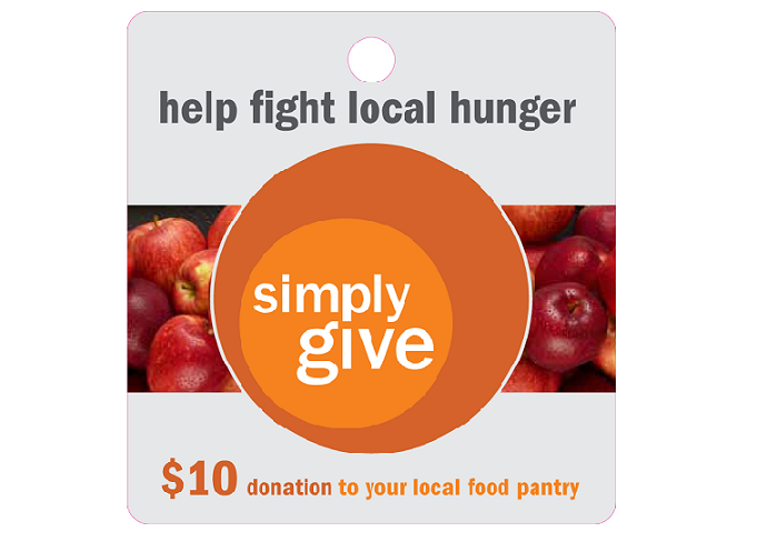 Meijer rebrands its hunger relief program Simply Give to the color of hunger awareness - Orange