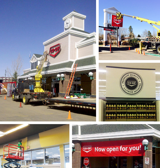Co-op teams opened two new food stores in the Edmonton area