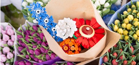 Homebase and LEGO recreate the least recognisable flowers ahead of Chelsea Flower Show 2014 and encourage children to get gardening