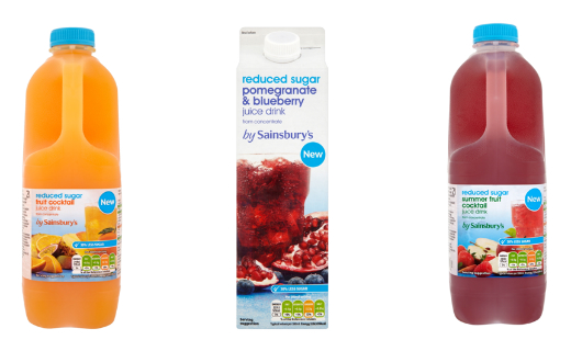 Sainsbury's reduced sugar content in its own brand chilled juice drinks by 16.7 million teaspoons per year