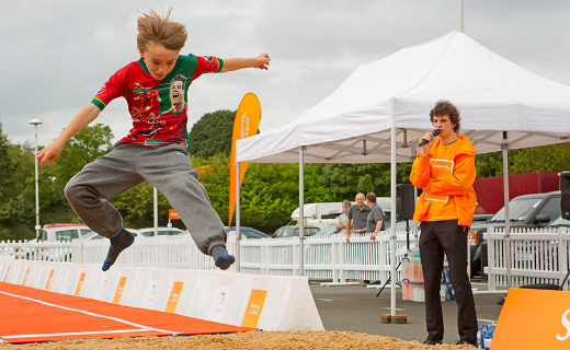 Four Sainsbury's stores to host the retailer's 'The Big Jump' event from 3rd to 6th of July