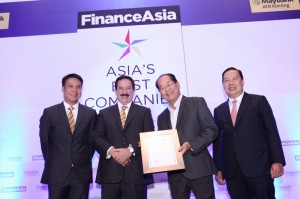 SM Investments Corporation received four awards from the international magazine, Finance Asia