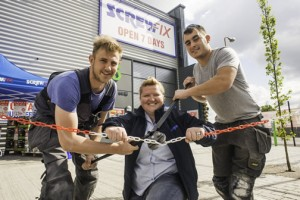 Screwfix in Lurgan and Londonderry, Northern Ireland, and Canning Town in East London