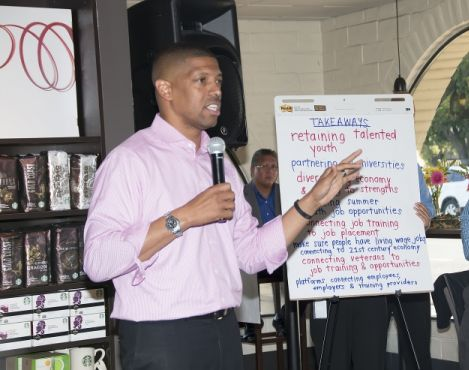 Sacramento Mayor Kevin Johnson and Starbucks hosted nation's first Solutions City™ event