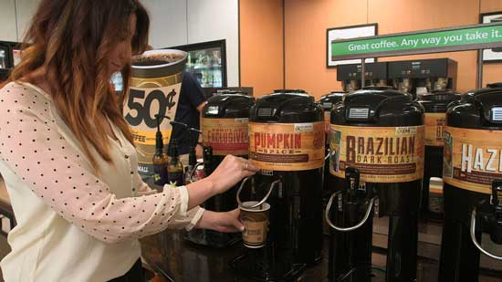 7‑Eleven brings back its popular coffee flavor, Pumpkin Spice, in time for the company's 50th anniversary of selling on-the-go coffee. The celebration includes 50 cents for a small cup, and buy six cups, get one free small size Sept. 3-14 through 7‑Eleven's digital loyalty card available on its mobile app.