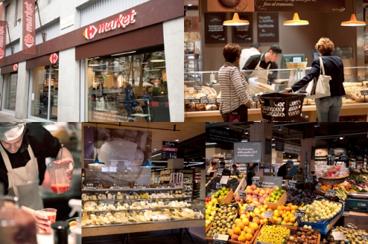 "Carrefour Italia opened its first supermarket Carrefour Market ""Gourmet"" in Milan"