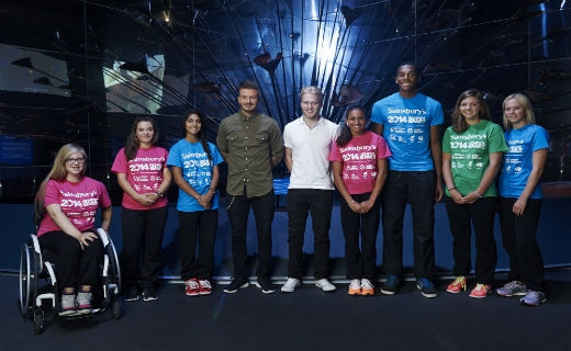 David Beckham and Jonnie Peacock to inspire young athletes heading to the Sainsbury's 2014 School Games