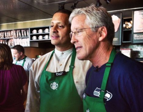 Starbucks and the Seahawks team up to raise money for A Better Seattle