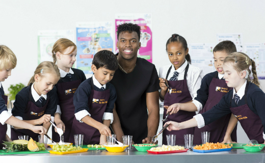 English football star Daniel Sturridge will be the face of several Sainsbury's programmes aimed at inspiring children to take part in sport and eat a healthy diet