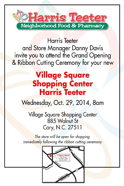 Harris Teeter opens its Village Square Shopping Center store on Oct. 29, 2014
