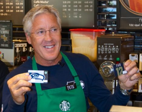 Starbucks and its customers donate $75,000 to Seahawks Coach Pete Carroll's initiative to reduce youth violence - A Better Seattle