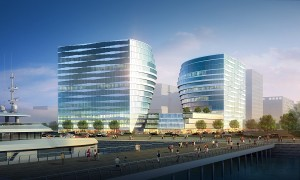 ThreeE-comCenter to rise within the prime business location of SM's Mall of Asia Complex in Pasay City, Philippines