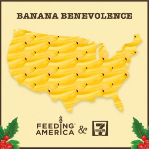 7‑Eleven, Inc. joins Feeding America network of food banks in a pay-it-forward campaign to buy bananas for families in need
