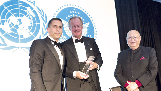 """H&M Chairman Stefan Persson presented with """"Humanitarian of the Year"""" award by the United Nations Association of New York"""