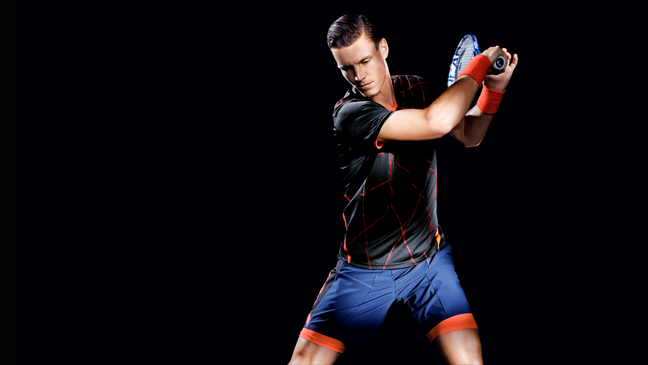 H&M brings fashion and technology into its new tennis collection in collaboration with Tomas Berdych
