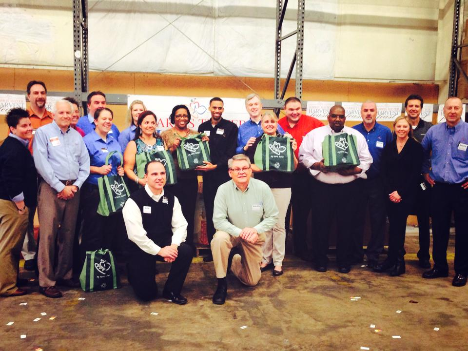 Harris Teeter associates assembled 2,000 Thanksgiving dinner bags for families-in-need accross Central & Eastern North Carolina