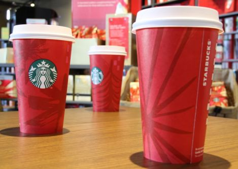 Starbucks® red holiday cups return this holidays