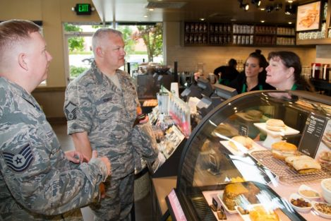 Starbucks plans to open 12 Starbucks Military Community Stores near military bases in fiscal 2015