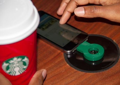 Starbucks unveiled Powermat wireless charging in approximately 200 of its stores in the San Francisco Bay Area