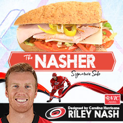 Carolina Hurricanes center Riley Nash teams up with Harris Teeter to debut his personally designed Signature Sub Sandwich