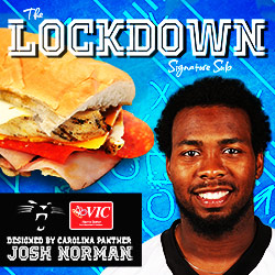 Carolina Panthers cornerback Josh Norman teams up with Harris Teeter to debut his personally designed Signature Sub Sandwich