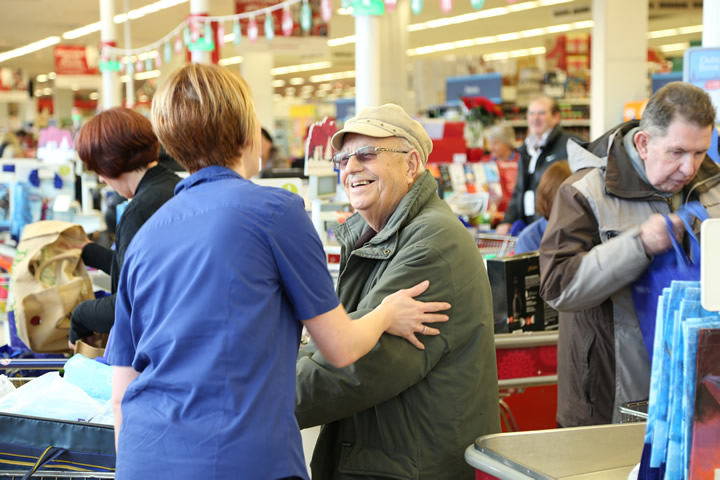 Customers at 400 Tesco stores will have dedicated bag packers working every day from now until Christmas Eve