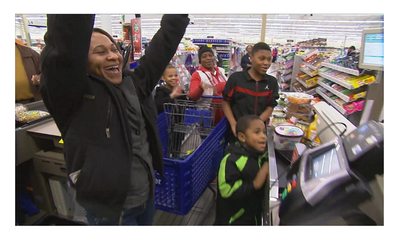 Meijer gave 213 unsuspecting customers their entire shopping cart filled with gifts and groceries as a holiday gift