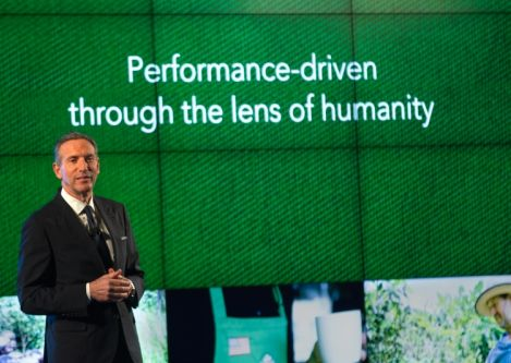 Starbucks CEO Howard Schultz discussed racial tension in America with partners who work in the Starbucks Support Center