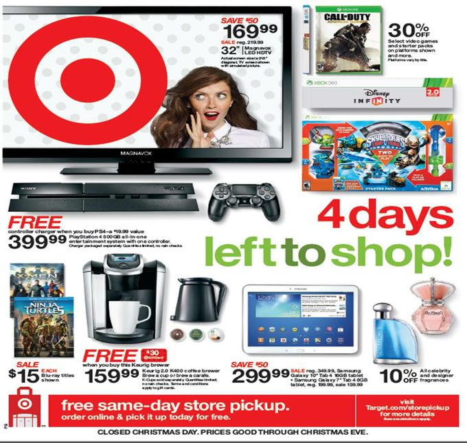 Target: Unbeatable Last-Minute Sales, Free Shipping through Dec. 20 and Store Pickup through 5 p.m. on Christmas Eve