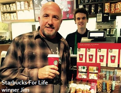 California firefighter and postal worker from Texas are the latest winners of Starbucks For Life