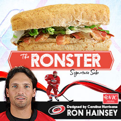 Carolina Hurricanes defenseman Ron Hainsey teams up with Harris Teeter to debut his personally designed Signature Sub Sandwich