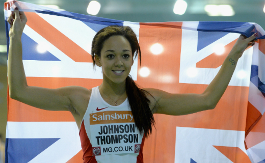 Katarina Johnson-Thompson confirmed she will compete at the Sainsbury's Indoor Grand Prix in Birmingham on 21 February 2015