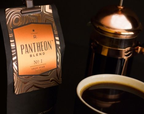 Pantheon™ Blend No. 1 is available exclusively at the Starbucks Reserve® Roastery and Tasting Room in Seattle for a limited time