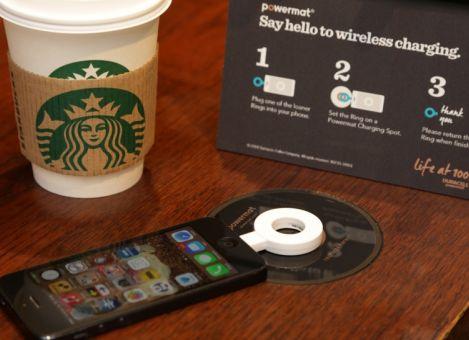 Starbucks launches Powermat wireless charging zones in ten central London Starbucks® stores