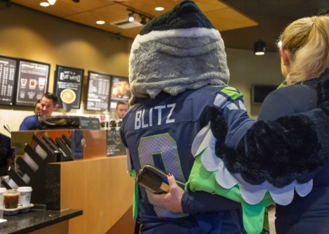 The Seahawks and Starbucks team up to offer exclusive content for Seahawks fans who are also Starbucks customers